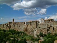 Veduta panoramica di Pitigliano